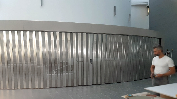 Curved security shutters FoldingPACK®: closing for Viterbo Hospital - 2018